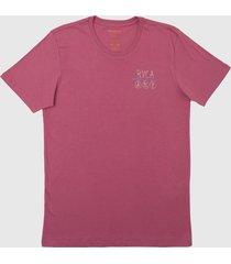 camiseta horton anp rvca - rosa - masculino - dafiti