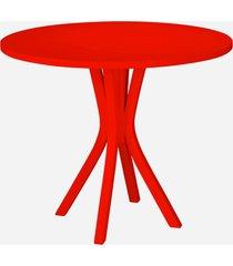 mesa de madeira redonda de madeira felice 410 vermelho - maxima