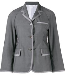 thom browne raglan-sleeve sports blazer - grey