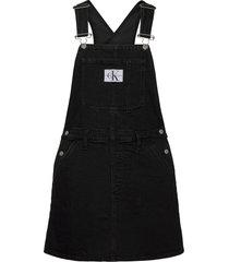 overall dress dresses jeans dresses svart calvin klein jeans