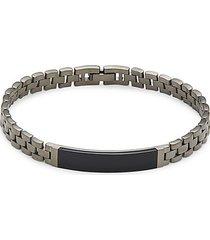 black rhodium-plated sterling silver & black onyx bracelet