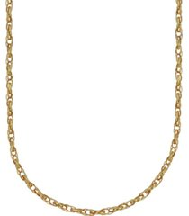 """double rolo link 18"""" chain necklace (1.9mm) in 18k gold"""
