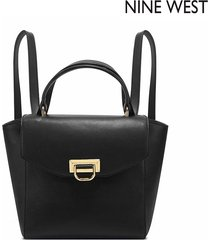 morral nine west  remy convertible backpack- negro