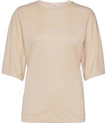 annabel top t-shirts & tops short-sleeved beige filippa k