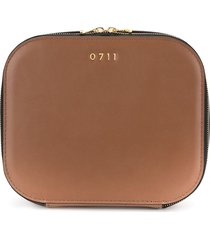 0711 large ela cosmetic bag - brown