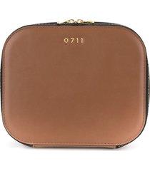 0711 large ela cosmetic bag - brown