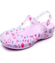 sandalias estampadas antideslizantes para mujer-violeta