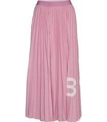 tiplissee knälång kjol rosa boss
