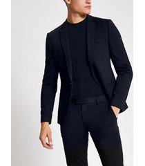 river island mens navy single breasted super skinny suit jacket