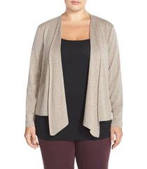 plus size women's nic+zoe 4-way convertible cardigan, size 3x - brown