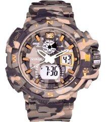 reloj virox hombre r01no1376-13 digital análogo camuflado