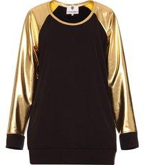 bluza ze złotymi rękawami czarna