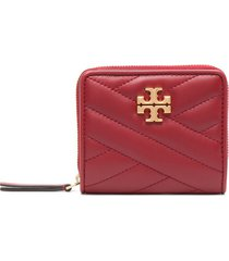 tory burch quilted square wallet - red
