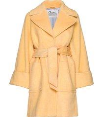 caught you looking coat wollen jas lange jas geel odd molly