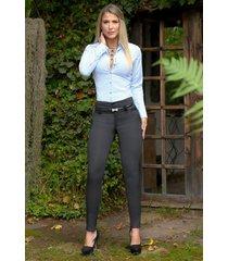 pantalón tipo paño outfit 1060 para mujer negro