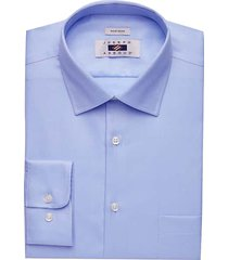 joseph abboud men's blue twill modern fit dress shirt - size: 17 1/2 34/35
