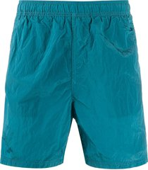 stone island logo swim shorts - blue