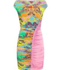 patterned sleeveless dress