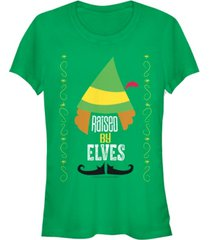 fifth sun elf raised by elves outfit details women's short sleeve t-shirt