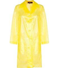 croc-effect plastic coat