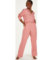 hunkemöller petite stickade pyjamasbyxor rosa