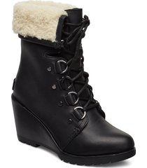 after hours lace up shea shoes boots ankle boots ankle boots with heel svart sorel