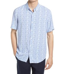 open edit print regular fit button-up shirt, size xxx-large in white lennox print at nordstrom