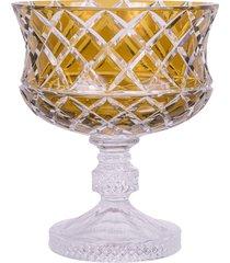 centro de mesa de cristal lodz – âmbar báltico