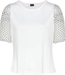 maglia con maniche in organza (bianco) - bodyflirt