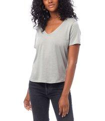 alternative apparel organic cotton v-neck women's t-shirt