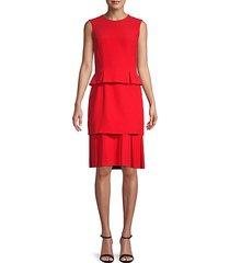 pleated skirt peplum dress