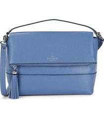 kate spade new york women's maria leather crossbody bag - blueberry