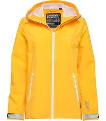 ls essentials harpa waterproof jacket regenkleding geel superdry