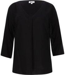 blusa unicolor 3/4 color negro, talla l