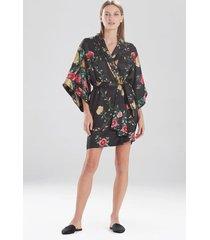 miyabi silk sleep/lounge/bath wrap / robe, women's, 100% silk, size l, josie natori