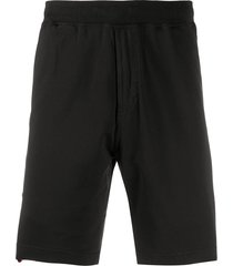 stone island loose fit shorts - black