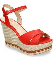 sandalias rojo bata wreda r mujer