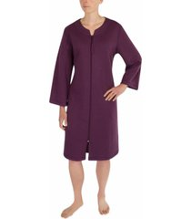 miss elaine floral embossed knit robe