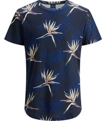 jack & jones t-shirt - regular fit - blauw