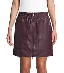 birshen faux-leather mini skirt