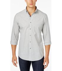 club room men's micro-dot print cotton shirt with pocket, created for macy's