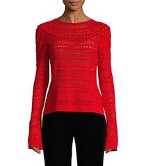 lace stitch pullover