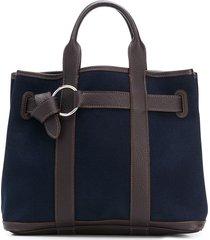 hermès pre-owned wrap-around tote - blue