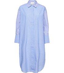 evelin new dress dresses shirt dresses blå second female