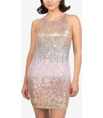 b darlin juniors' ombre sequin bodycon dress, created for macy's