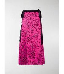 marni cat print wrap skirt