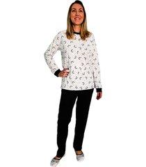 pijama phiphi longo panda preto
