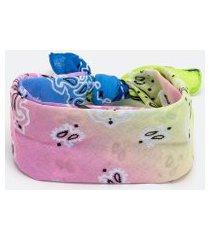 bandana estampa paisley com efeito tie dye | accessories | multicores | u
