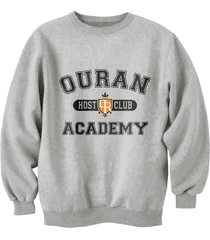 ouran host club academy crewneck sweatshirt  s-3xl sportgrey