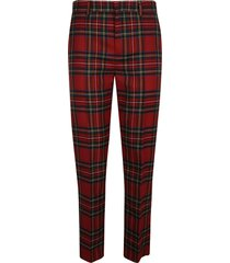 red valentino classic checked trousers